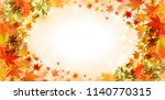 autumn leaves autumn background | Shutterstock .eps vector #1140770315