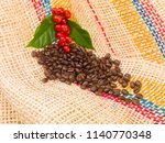 colombia coffee beans | Shutterstock . vector #1140770348
