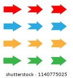arrows sign in trendy flat...
