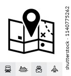 map and location icons with... | Shutterstock .eps vector #1140775262