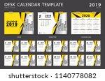 desk calendar 2020 template.... | Shutterstock .eps vector #1140778082