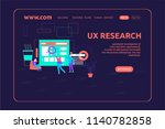 landing page design ux research | Shutterstock .eps vector #1140782858