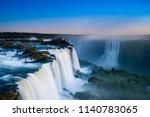Igua U Falls Seen From Top To...