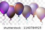 vibrant realistic helium vector ... | Shutterstock .eps vector #1140784925