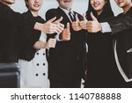 group of happy success... | Shutterstock . vector #1140788888