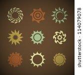vector retro sun icons set | Shutterstock .eps vector #114079078