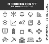 a set of business icons related ... | Shutterstock .eps vector #1140796262