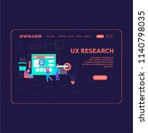 landing page design ux research | Shutterstock .eps vector #1140798035