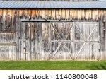 Sliding Wood Barn Doors Faded...