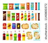 snack product set for vending... | Shutterstock .eps vector #1140800372