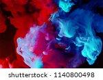 motion color drop in water ink...   Shutterstock . vector #1140800498