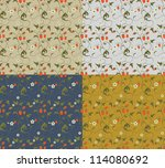 seamless patterns with... | Shutterstock . vector #114080692