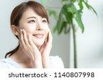 beauty asian woman. skincare... | Shutterstock . vector #1140807998