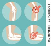 knee and elbow joints rights....   Shutterstock .eps vector #1140808085