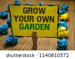 writing note showing grow your... | Shutterstock . vector #1140810572