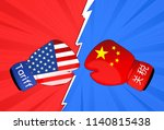 concept image of  usa china... | Shutterstock . vector #1140815438