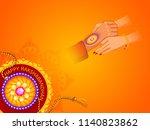 illustration of greeting card... | Shutterstock .eps vector #1140823862