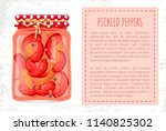 pickled peppers preserved food... | Shutterstock .eps vector #1140825302