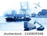 business logistics and... | Shutterstock . vector #1140839348