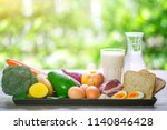 healthy eating and cooking on... | Shutterstock . vector #1140846428