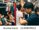 young man traveler is visiting... | Shutterstock . vector #1140849812