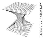 wireframe mesh funnel....   Shutterstock . vector #1140851642