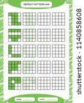 repeat green pattern. cube grid ... | Shutterstock .eps vector #1140858608