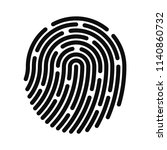 fingerprint icon. fingerprint... | Shutterstock .eps vector #1140860732