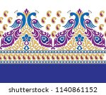 peacock pattern in border | Shutterstock .eps vector #1140861152