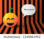halloween pumpkins on the... | Shutterstock .eps vector #1140861902
