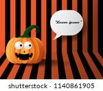 halloween pumpkins on the... | Shutterstock .eps vector #1140861905