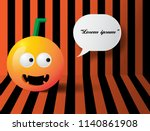 halloween pumpkins on the... | Shutterstock .eps vector #1140861908
