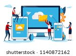 cloud system. big data. online... | Shutterstock .eps vector #1140872162