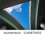 a triangular area of sky made...   Shutterstock . vector #1140873452