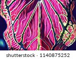 vibrant pink tropical leaf... | Shutterstock . vector #1140875252