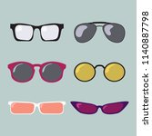 glasses color modern fashion... | Shutterstock .eps vector #1140887798