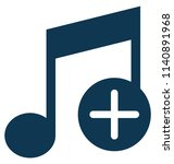add music glyph vector icon... | Shutterstock .eps vector #1140891968