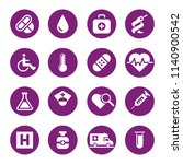 health and medicine icon set | Shutterstock .eps vector #1140900542