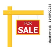 for sale wooden placard. vector ... | Shutterstock .eps vector #1140902288