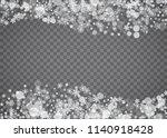 snowflake border for christmas... | Shutterstock .eps vector #1140918428