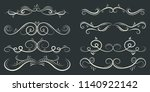 calligraphic black and elegant... | Shutterstock .eps vector #1140922142
