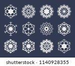 white snowflake icons... | Shutterstock .eps vector #1140928355