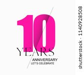 10 years anniversary vector... | Shutterstock .eps vector #1140928508