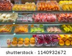 variety of tropical fruits in...   Shutterstock . vector #1140932672