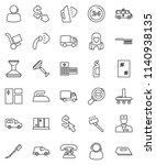 thin line vector icon set  ... | Shutterstock .eps vector #1140938135