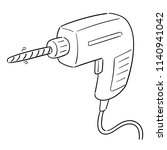 vector of drill | Shutterstock .eps vector #1140941042