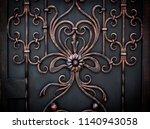 beautiful decorative metal... | Shutterstock . vector #1140943058