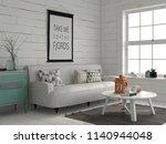 interior in marine style 3d... | Shutterstock . vector #1140944048