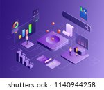 company growth or success  3d... | Shutterstock .eps vector #1140944258