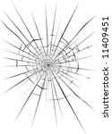 broken glass 3   Shutterstock .eps vector #11409451